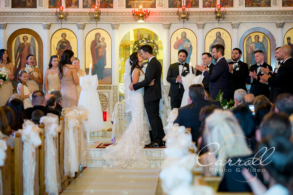Warren Ohio Wedding Photography by Carroll Photo and Video of a Greek Wedding at St. Demetrios Church and St. Demetrios Banquet Center in Warren Ohio.  Best Warren Ohio Wedding Photographers.