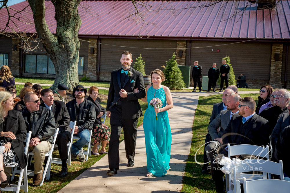 Beautiful Wedding ceremony at The Vineyards at Pine Lake - Columbiana Wedding Photography by Youngstown Wedding Photographers Carroll Photo and Video