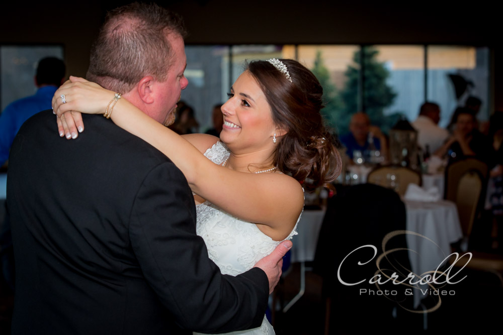 Bride dancing with her dad at wedding reception at The Vineyards at Pine Lake - Columbiana Wedding Photography by Youngstown Wedding Photographers Carroll Photo and Video
